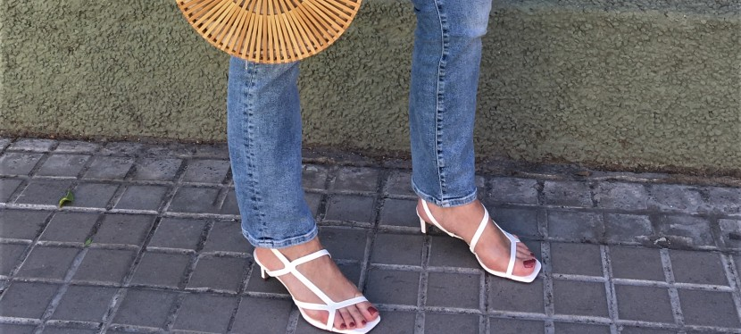 On trend: square toe sandals